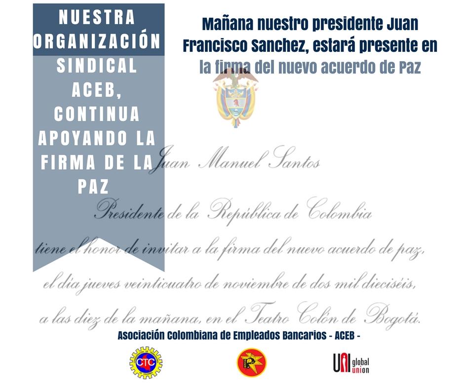 El 24 de noviembre se firmará el nuevo acuerdo de Paz en Colombia