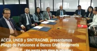 Pliego de peticiones GNB Sudameris