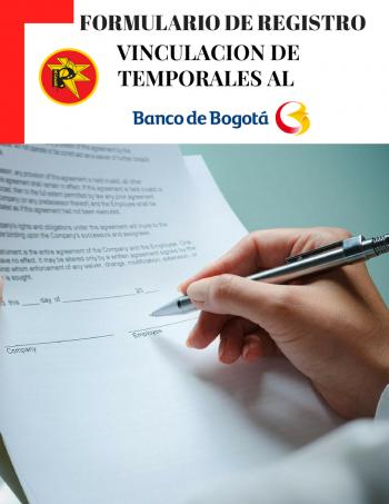 FORMULARIO VINCULACION DE TEMPORALES BANCO DE BOGOTA