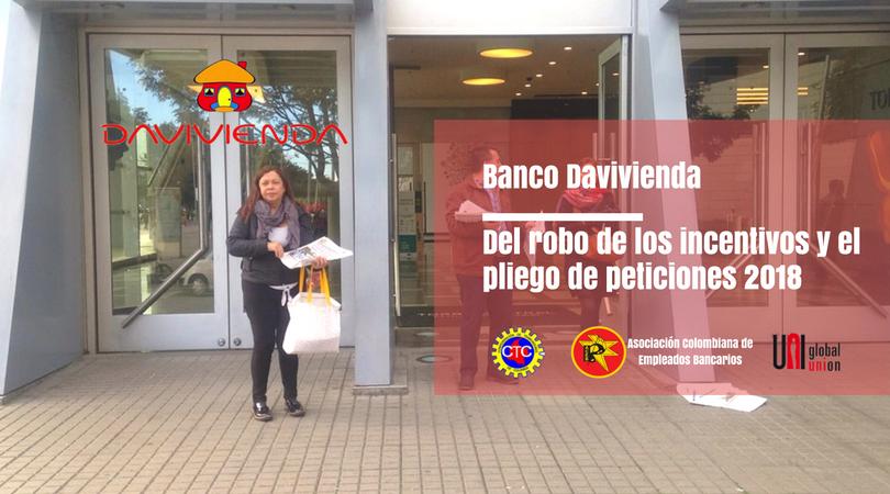 Banco Davivienda, Del robo de los incentivos y el pliego 2018