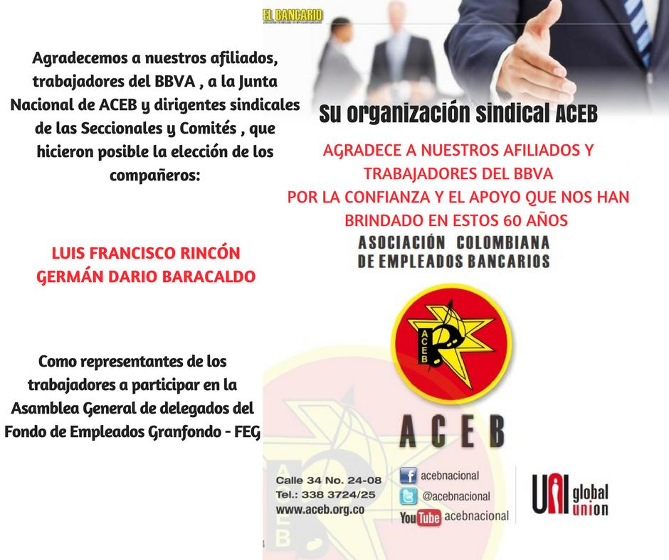 Francisco Rincón y Germán Baracaldo, elegidos como delegados en el FEG