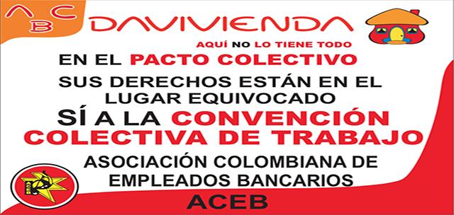 ACEB, Presentó pliego de peticiones en Davivienda