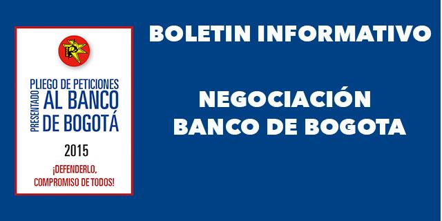 Informe No. 11 negociación Banco de Bogotá. Bogotá, 24 de agosto de 2015