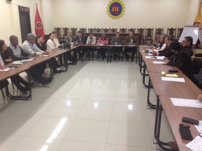 Reunion de la Junta Nacional de ACEB y las Comisiones Negociadoras de los Bancos