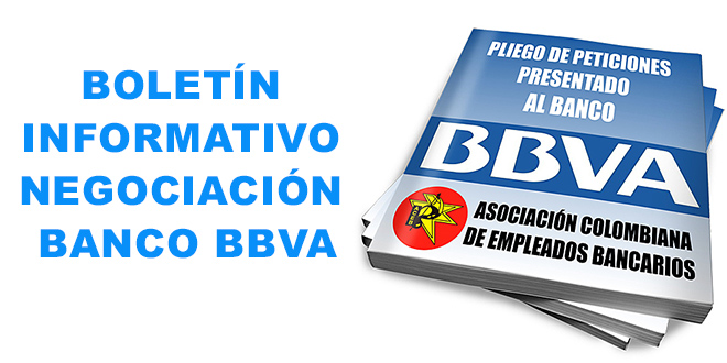 BOLETIN No 1 NEGOCIACIÓN BANCO BBVA