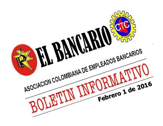 Boletín El Bancario – febrero de 2016
