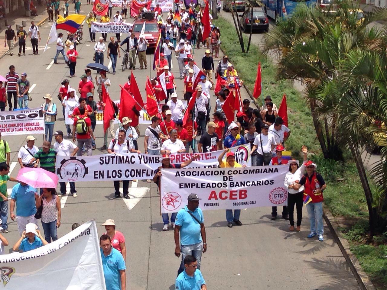 Así transcurrió la participación de ACEB en el Paro Nacional el 17 de marzo