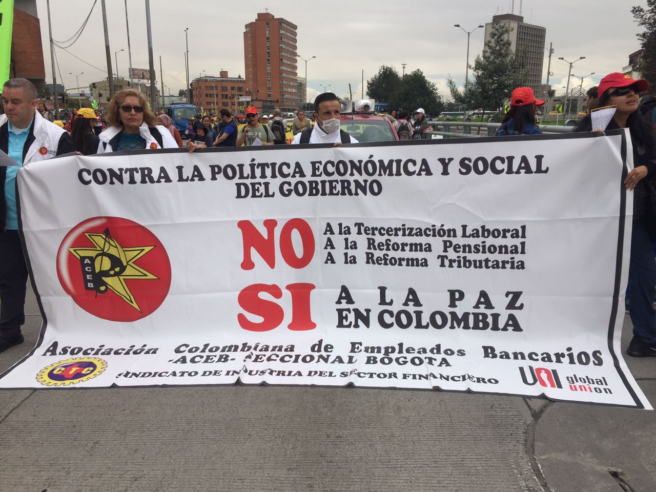 Jornada Nacional de protesta Contra la Reforma Tributaria