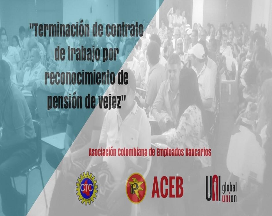 Terminación de contrato de trabajo por reconocimiento de pensión de vejez