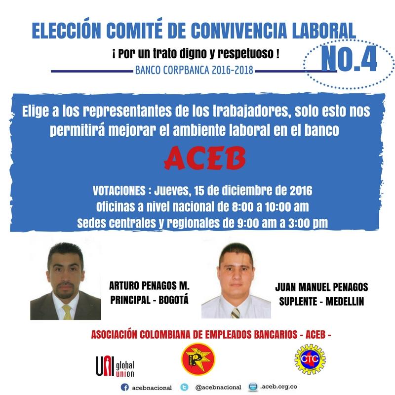 Elecciones Comité de Convivencia Laboral en el Banco Corpbanca