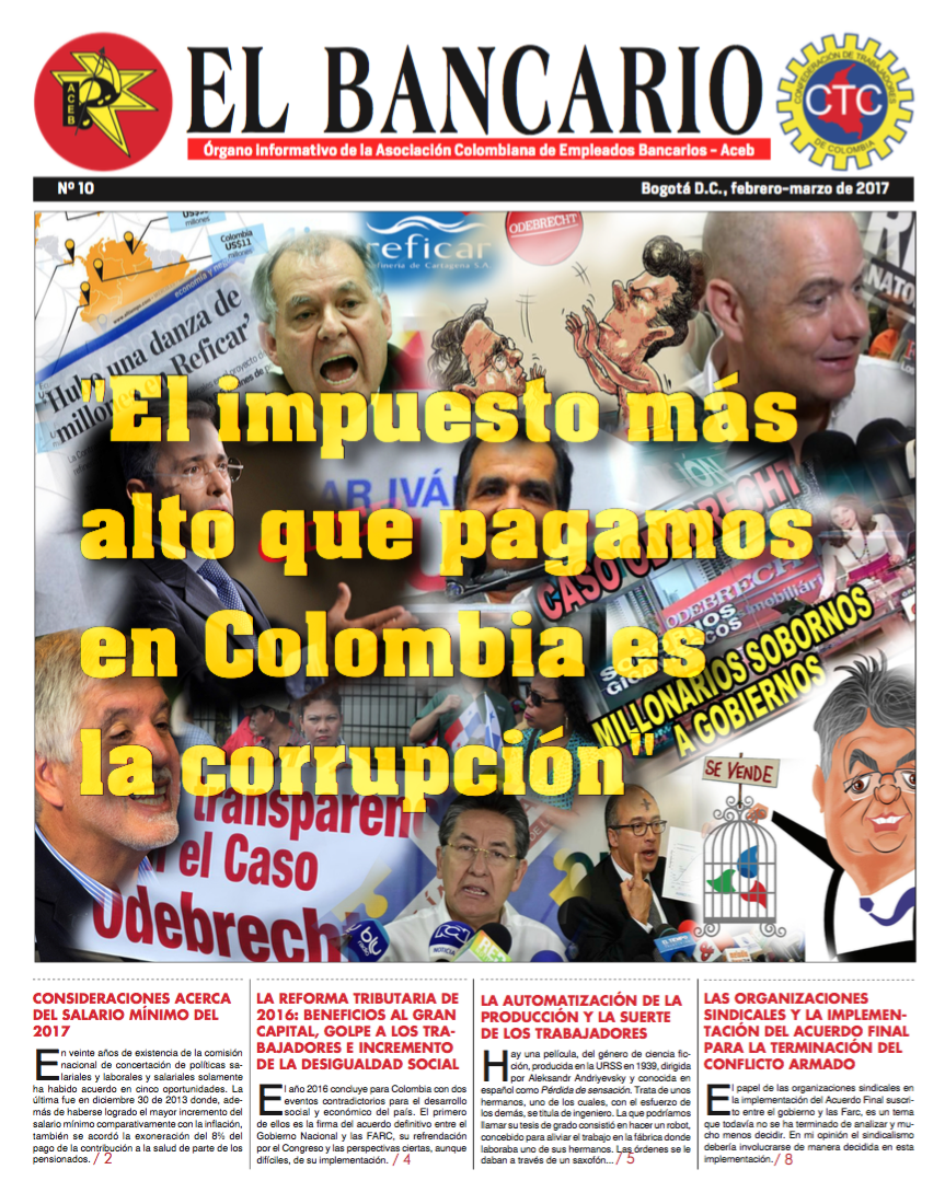 Periódico El Bancario, edición No.10