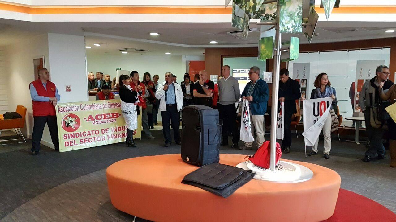 Reunión de la Red Sindical Internacional del Banco Itáu, realizada del 20 al 22 de febrero en Colombia