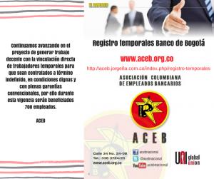 Registro temporales Banco de Bogotá