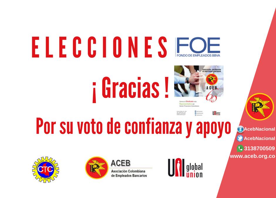 Elección delegados Asamblea FOE BBVA