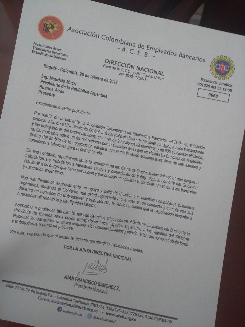 Solidaridad y apoyo a La Bancaria #Argentina
