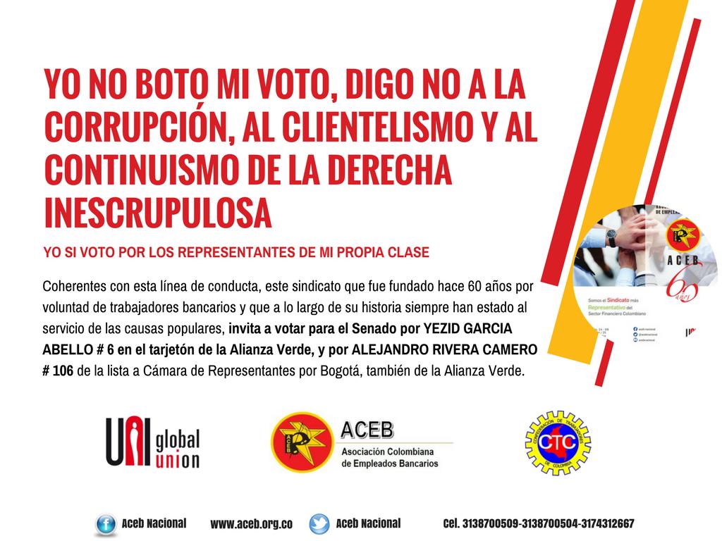 Yo no boto mi voto, digo NO a la corrupción, al clientelismo y al continuismo de la derecha inescrupulosa