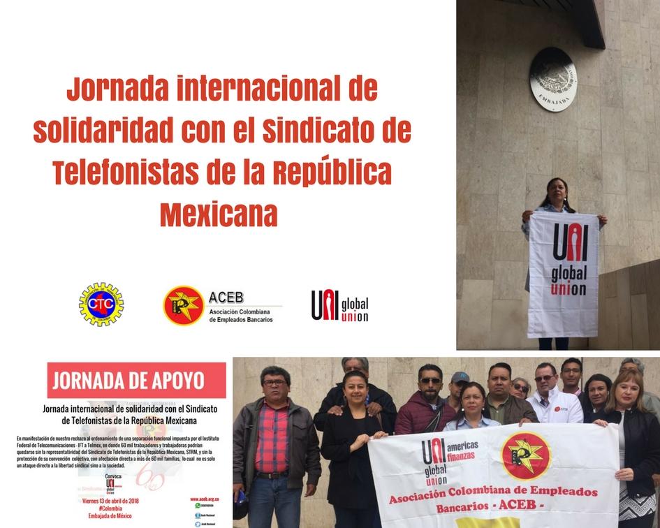 ACEB en Jornada internacional de solidaridad con el Sindicato de Telefonistas de la República Mexicana