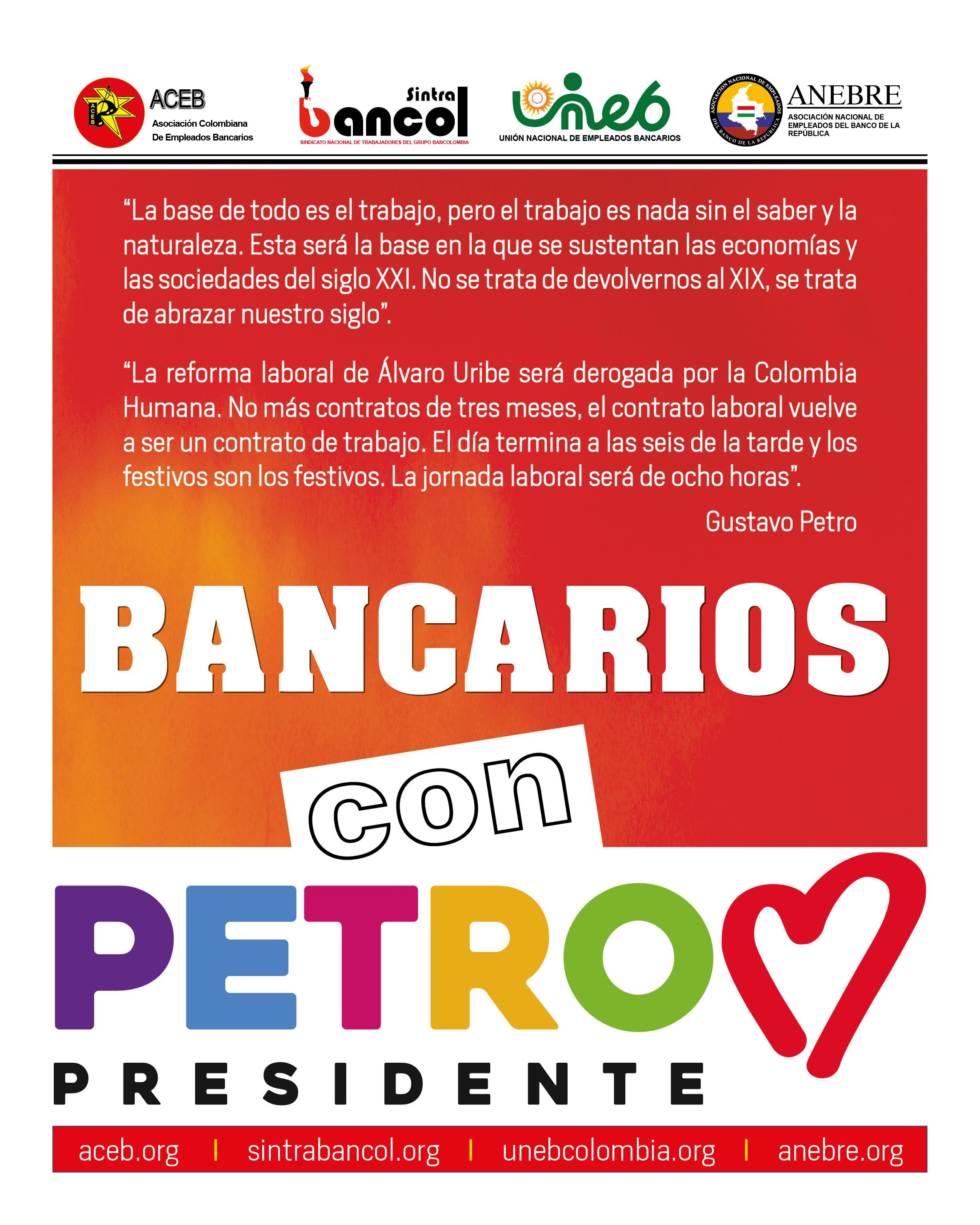 Bancarios con Petro Presidente