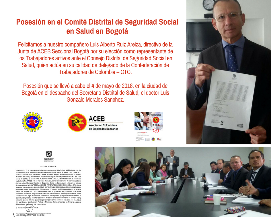 Luis Alberto Ruiz, nombrado en el Comité Distrital de Seguridad Social en Salud en Bogotá