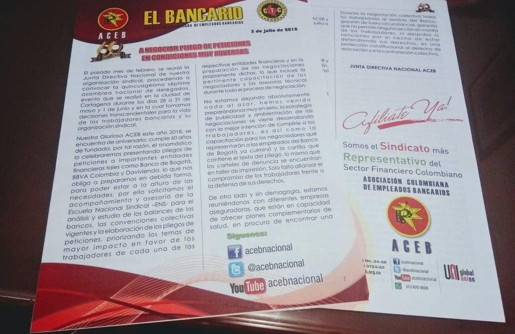 El Bancario: A negociar Pliego de Peticiones  en condiciones muy adversas