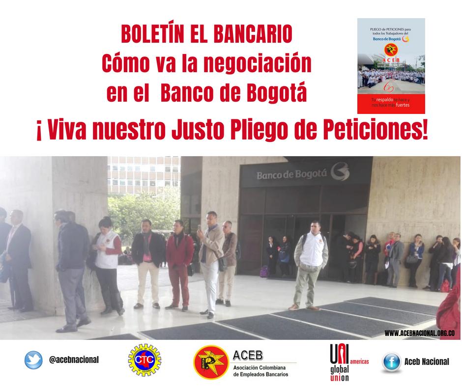 Cómo va la negociación en el Banco de Bogotá