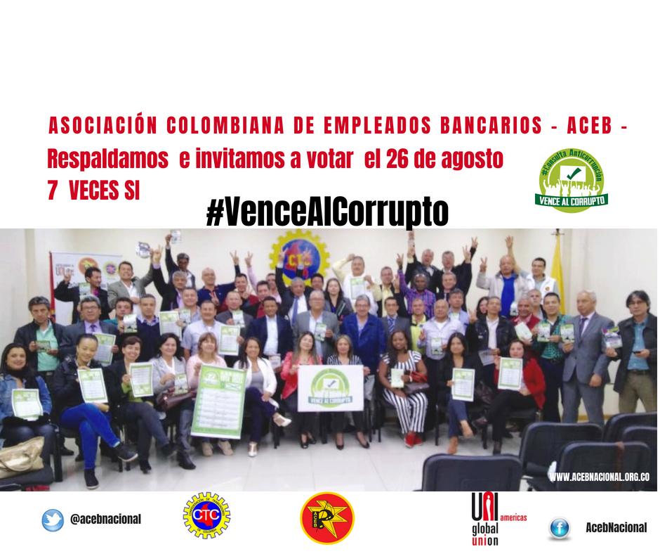 ACEB Unidos contra la corrupción Votemos #7VecesSì