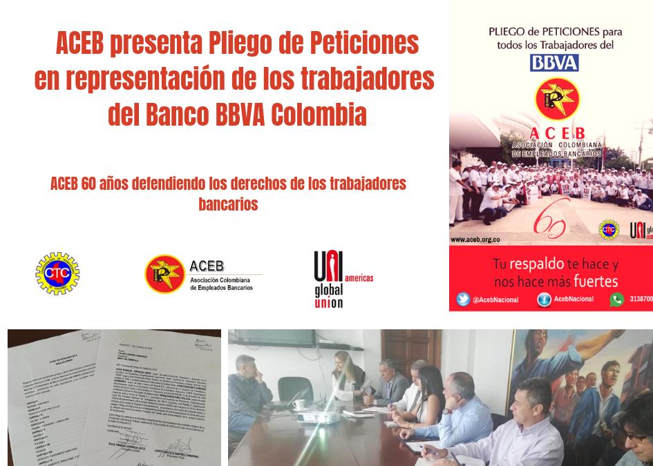 ACEB, UNEB y Sintrabbva iniciamos negociación en BBVA Colombia