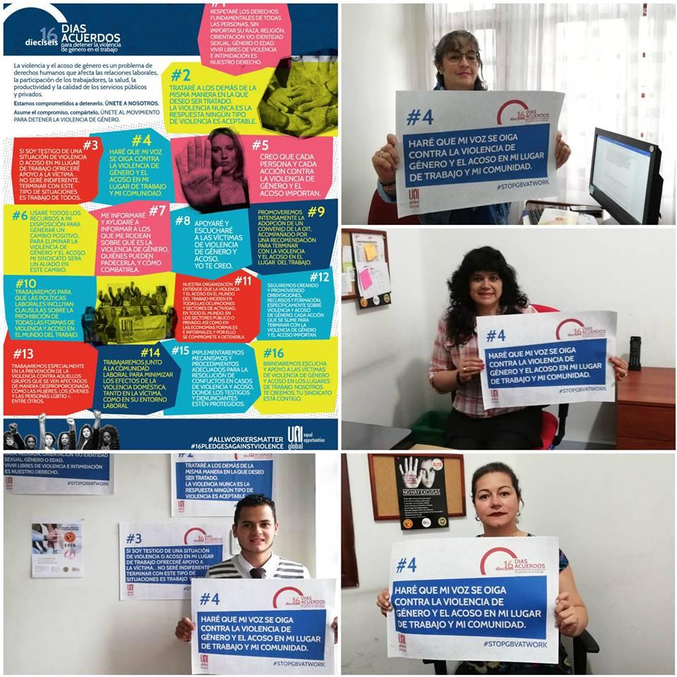 ACEB se unió a la campaña de UNI #16DíasDeActivismo