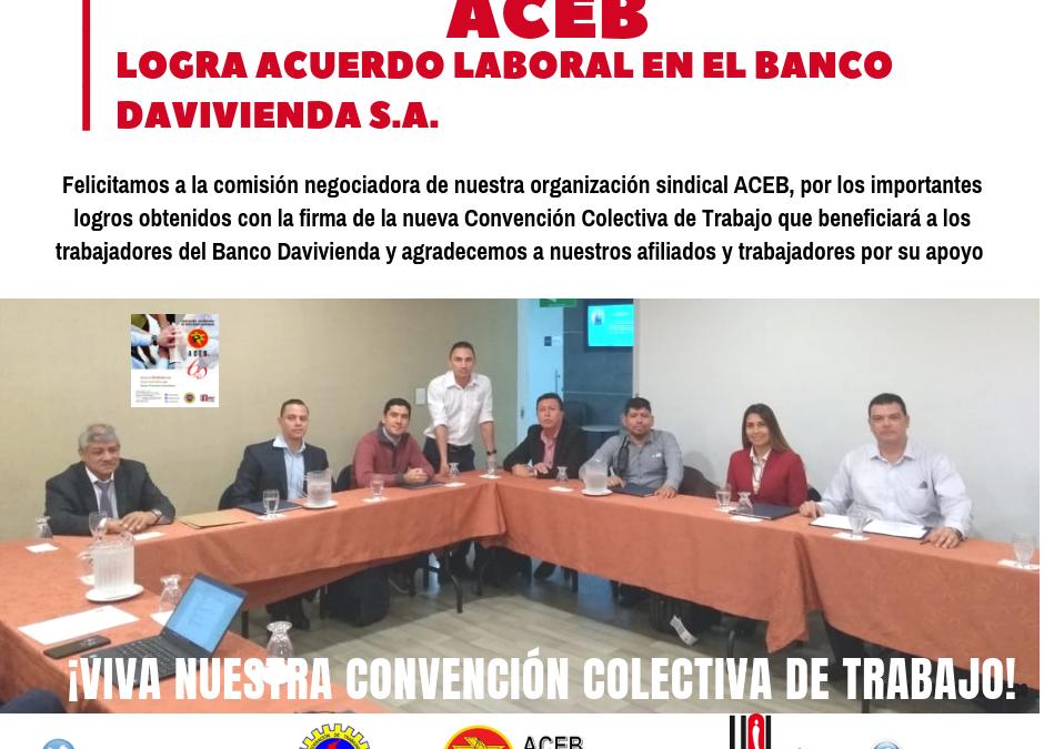 ACEB logra la firma de la Convención Colectiva de Trabajo en el banco Davivienda S.A.