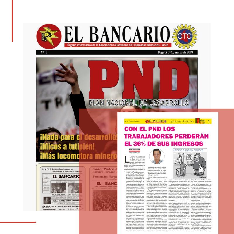 Con el PND los trabajadores perderán el 36% de sus ingresos