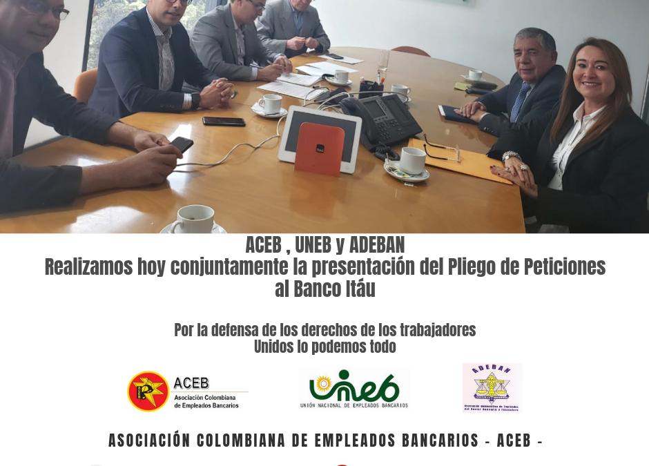 ACEB, UNEB y ADEBAN presentamos Pliego de Peticiones al banco Itaú