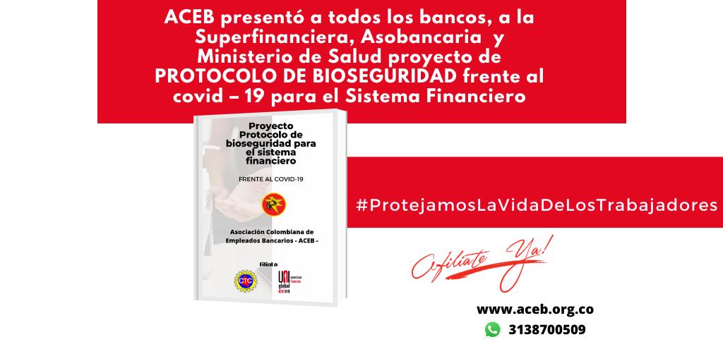 ACEB presentó proyecto de Protocolo de bioseguridad frente al covid – 19, para el Sistema Financiero