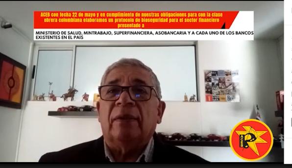 Mensaje Juan Francisco Sanchez, protocolo bioseguridad sector financiero